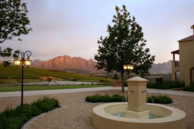 Asara Hotel Coutyard, Stellenbosch Wine Route, Cape Town