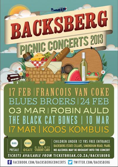 Backsberg Picnic Concerts: 2013, Cape Town Blog, Cape Town