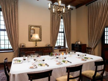 Manor House dining room at Nederburg Wine Estate, Paarl