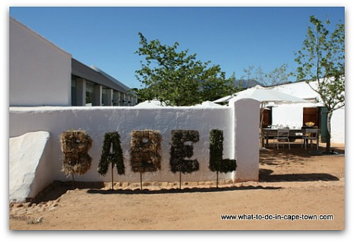 Restaurant Babel on the farm Babylonstoren on the Paarl Wine Route