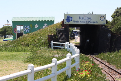 The tunnel where the Miniature Blue Train goes through.