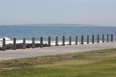 The view of Robben Island as seen from the Miniature Blue Train, Cape Town