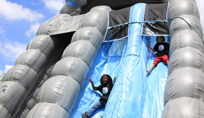 Slide at Bugz Family Playpark, Cape Town
