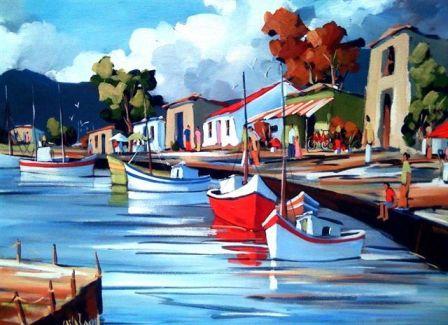 Harbour Scene, Carla Bosch Art
