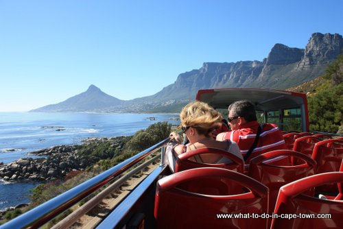 Lion's Head and the Twelve Apostle's as seen on a  City Sightseeing Tour, Cape Town