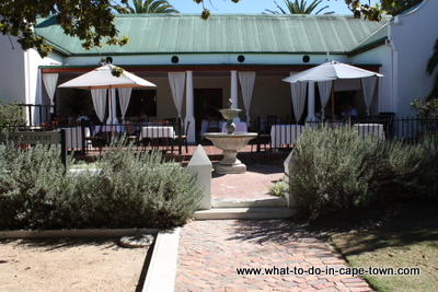 Poplars Restaurant, D'Aria Vineyards, Durbanville Wine Route, Cape Town