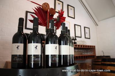 Wine, D'Aria Vineyards, Durbanville Wine Route, Cape Town