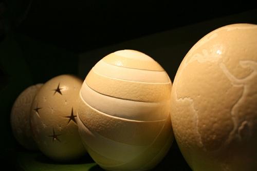 Ornamental Ostrich Eggs at Cape Point Ostrich Farm
