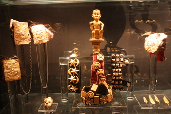 Gold artifacts in the Gold of Africa Museum, Cape Town