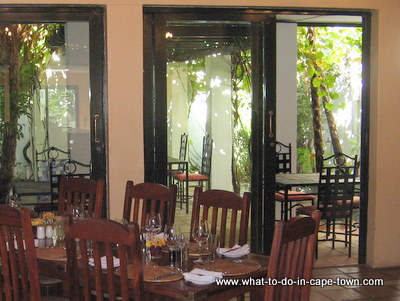 Hermitage Restaurant, Hazendal Wine Estate, Stellenbosch Wine Route, Cape Town