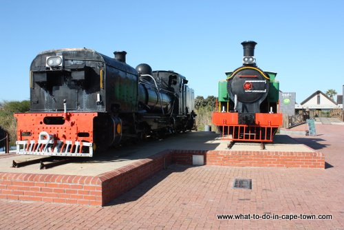 Locomotives at the entrance to Intaka Island Bird Sanctuary