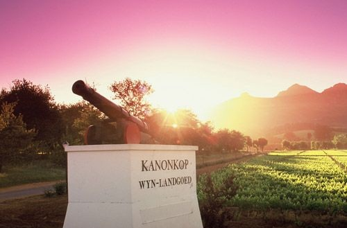 Entrance to Kanonkop Wine Estate