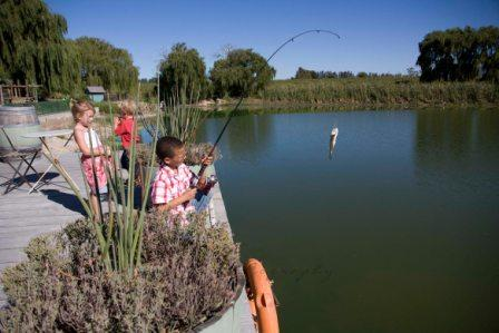 Bass fishing at Le Bonheur Crocodile Farm