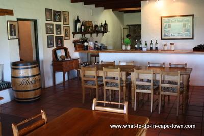 Tasting Room, Middelvlei Wines, Stellenbosch Wine Route, Cape Town