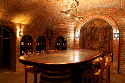 The private cellar at Neethlingshof Estate, Stellenbosch
