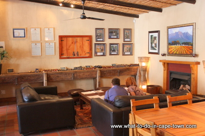 Tasting centre at Rickety Bridge Wine Estate, Franschhoek Wine Estat