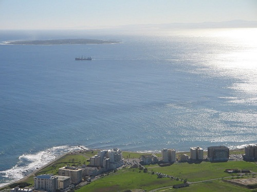 Robben Island seen from Signal Hill