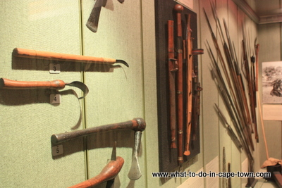 Traditional Weapons Display, Sasol Art Museum / US Art Museum, Stellenbosch, Cape Town