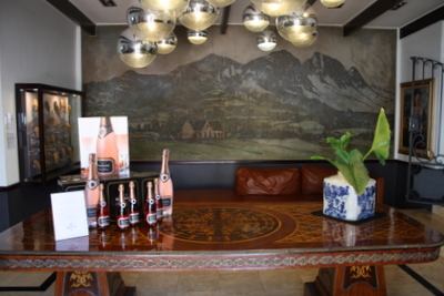 Foyer to tasting room and Cuvee Restaurant, Simonsig Estate, Stellenbosch Wine Route, Cape Town