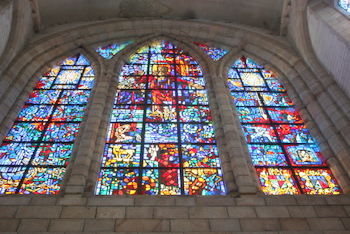Gabriel Loire windows at St Georges Cathedral, Cape Town