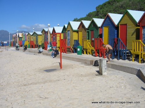 Beach Huts at St. James, near Kalk Bay Harbour, Cape Town