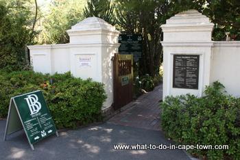 Entrance to the US Botanical Garden, Stellenbosch