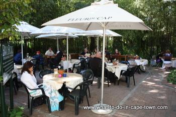 Katjiepiering Restaurant at the US Botanical Garden, Stellenbosch