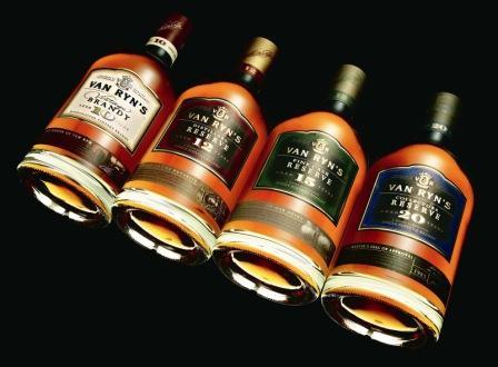 Brandy range of the Van Ryn Brandy Distillery, Stellenbosch