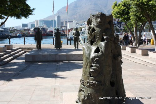 The Peace and Democracy sculpture at Nobel Square - V&A Waterfront, Cape Town