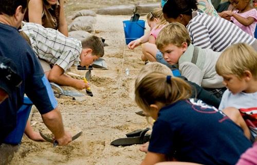 Mock Dig at West Coast Fossil Park