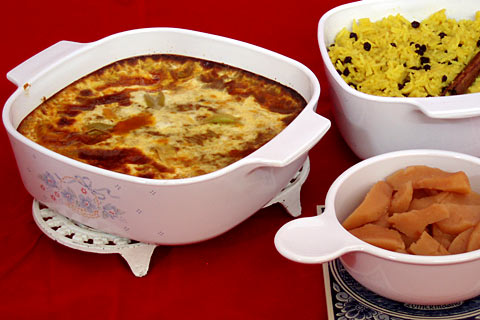 Bobotie a favourite dish of Marlene Pereira