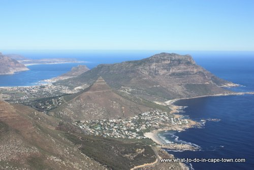 Scarborough and Hout Bay to the back, Cape Town Helicopters