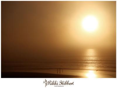 Golden misty sunset at Lagoon Beach