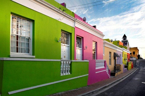 Brightly painted houses in the Bo Kaap
