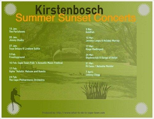 Summer Sunset Concerts @ Kirstenbosch