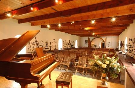 Classical concert venu at La Motte Wine Estate, Franschhoek Wine Route