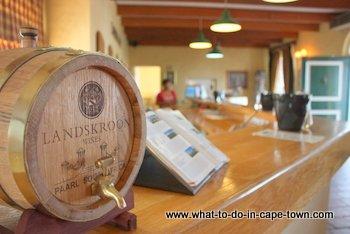Tasting Room, Landskroon Estate, Paarl Wine Route, Cape Town
