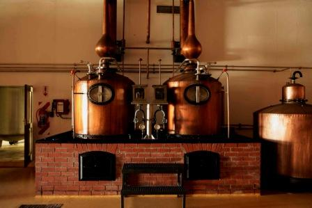 A 1972 brandy distillery in the museum at Nederburg , Western Cape Brandy Route