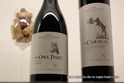 Two wines from the short story collection offered byNeethlingshof Estate, Stellenbosch