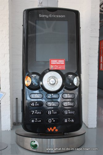 Man-sized cellphone, Cape Town Science Centre