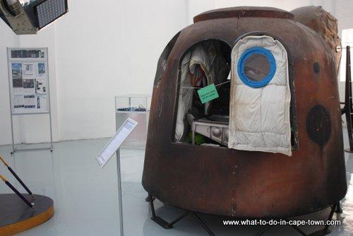 A replica of Mark Shuttleworths SOYUZ capsule,Cape Town Science Centre