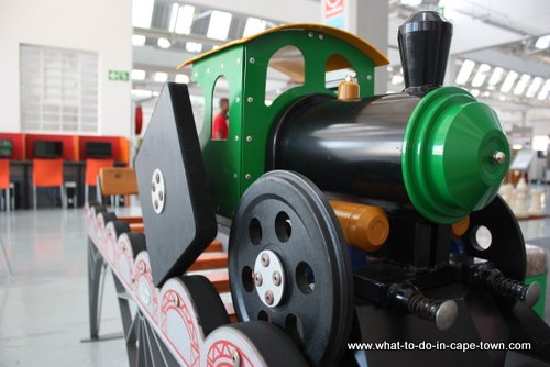 Train with square wheels at the Cape Town Science Centre