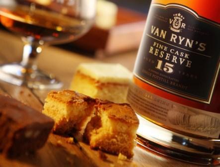 Brandy and dessert pairing, Van Ryn Brandy Distillery, Stellenbosch